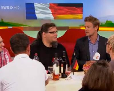 Bild aus der SWR Landesschau, Markus der Mäusegaukler in Interview mit Florian Weber